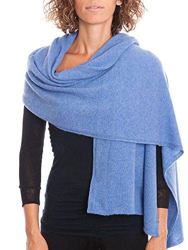 DALLE PIANE CASHMERE - Stola aus 100% Kaschmir - für Frau, Farbe: Hellblau, Einheitsgröße