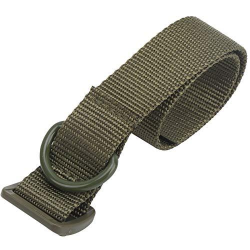 YIHEXUANkeji Cinturón de fleje portátil de alto rendimiento fuerte y cómodo para la mayoría de los pantalones de estilo civil con anillos de cinturón (verde) 🔥