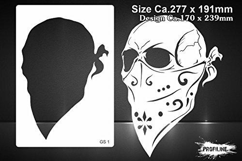 Airbrush Schablone Totenkopf Skull Gangster