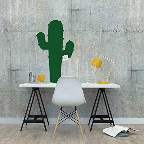 Zibros | Pinnwand Kork Kaktus, dekorativer Naturkork, Pinnwand Büro Office, Kinder Pinnwand, Wandgestaltung, 3D Effekt, ablösbare Aufkleber, XL Format 90x60x2cm