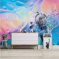 Iusasdz カスタム3D電子音楽ファッション音楽背景、壁紙、壁画250X175Cm
