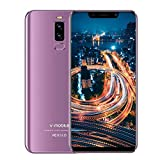 Newest Unlocked Smartphone, 32GB/128GB + 3GB RAM, 5.85' HD+ Screen, 5MP + 13MP Cameras, 4G LTE Dual SIM Slot, 4200 mAh Battery, Android Unlocked Phone, Android Mobile Phone, Free Warranty (Purple)