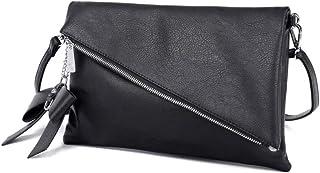 CASAdiNOVA Clutch 2-in-1 - Kleine Handtasche Elegante Abendtasche - Damen Umhängetasche - Schultertasche Abnehmbarer Gurt - inkl. Schleife