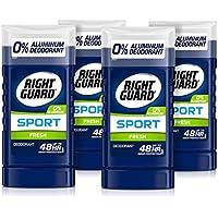 4-Pack Right Guard Sport Aluminum-Free Deodorant Invisible Solid Stick