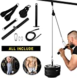 Skboy Fitness LAT and Lift Pulley System, Nylon Machine with Upgraded Loading Pin for Triceps Pull...