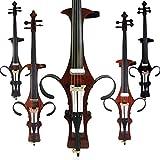 Aliyes Violonchelo eléctrico de madera maciza profesional hecho a mano 4/4 tamaño completo silencioso eléctrico Cello-Soul