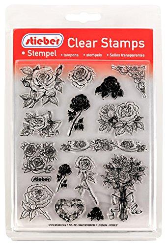stieber Clear Stamps Transparente Stempel Sets (Bitte gewünschtes Motiv/Thema unten auswählen!) (Rosen - Roses)
