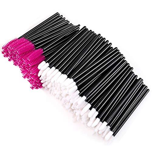 300 Stück Einweg Lippenbürsten Werkzeug Wimpernbürste Sets, Tägliche Lippenpinsel Stick...