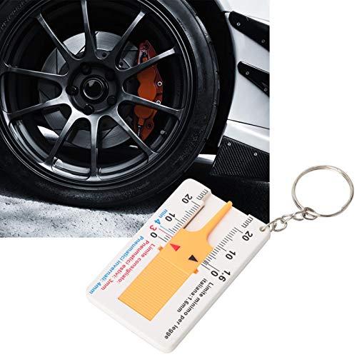 Regla de profundidad de neumáticos de 0-20 mm, medidor de profundidad de neumáticos, para accesorios de reparación de neumáticos Herramientas de reparación de neumáticos