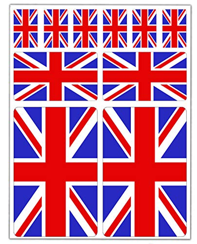 10 x vinyl sticker autosticker sticker vlag Engeland vlag Union Jack United Kingdom Groot-Brittannië UK auto motorfiets scooter raam D 24