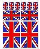 Biomar Labs® 10 x Vinyl Aufkleber Autoaufkleber Stickers Fahne England Flagge Union Jack United Kingdom Großbritannien UK Auto Moto Motorrad Fahrrad Scooter Fenster D 24