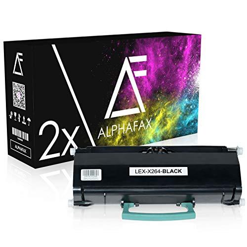 2 Toner kompatibel zu Lexmark X264DN, X363DN, X364DN, X364DW - X264H21G - Schwarz je 9.000 Seiten