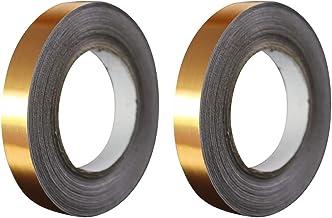 Baoblaze 2-pack Autoadesivo Adesivos De Telha Adesivos Fita 5mmx50m Folha De Ouro Impermeável