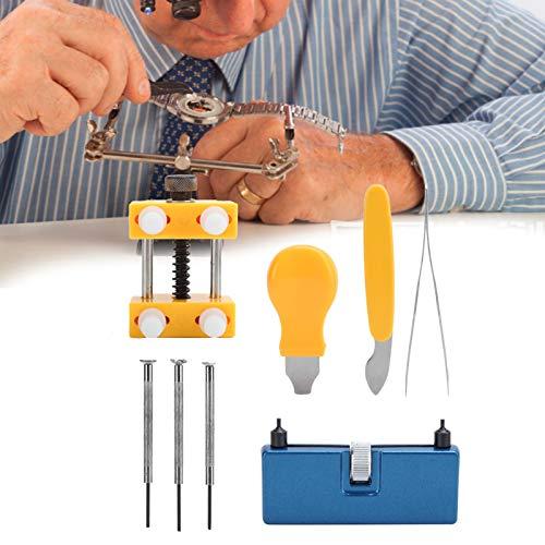 8pcs Herramienta de reparación de la parte posterior de la caja del reloj, Abridor de la cubierta de la caja del reloj Herramienta de reparación de la batería de repuesto Kit de soporte de la caja