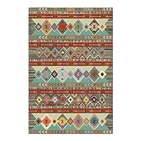 ボヘミアンレトロスタイルカーペットとラグカラフルなペルシャの幾何学民族民族リビングルームエリアラグ寝室のキッチンベッドサイドフロアマット