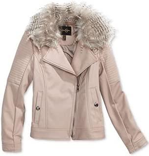 Girls' Cozy Faux Leather Moto Jacket