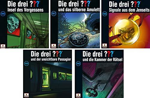 Die Drei ??? (Fragezeichen) - Folge/CD 186-190 im Set - Deutsche Originalware [5 CDs]