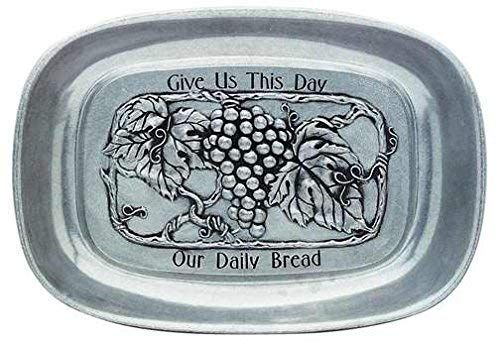 Carson Home Accents 33783 Tray Our Daily Bread Vineyard Pewter