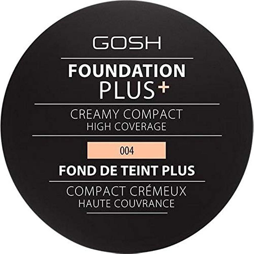 暴行暴露する原子炉[GOSH ] 基礎プラス+クリーミーコンパクトな自然004 - Foundation Plus+ Creamy Compact Natural 004 [並行輸入品]