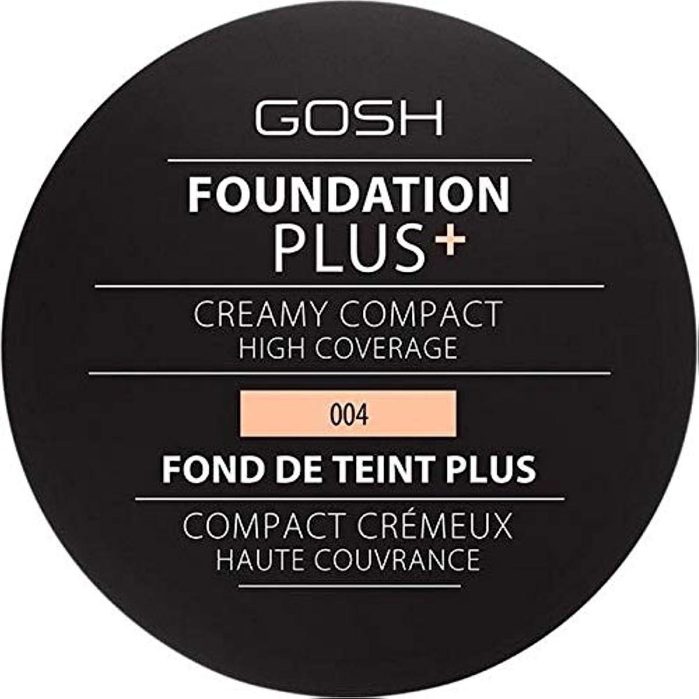 作り上げるチーム書誌[GOSH ] 基礎プラス+クリーミーコンパクトな自然004 - Foundation Plus+ Creamy Compact Natural 004 [並行輸入品]