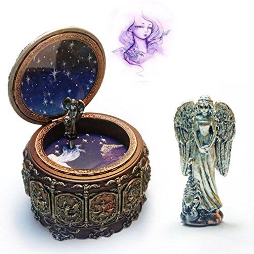 HANYI Vintage Mechanical Classical Collectible Translucidus Music Box with Twelve constellations, Plays Castle in the Sky - Scorpio