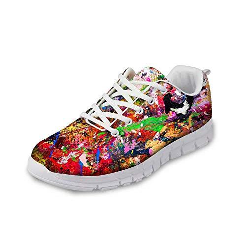 MODEGA Zapatillas de Deporte del Arte los Hombres Zapatos de Bolos de Bolera Alquiler 3G Corriendo Zapatos para Hombre Tamaño 41 EU