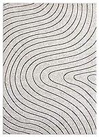 Luxe Weavers セレーナ 抽象的 アイボリー 8x10 エリアラグ