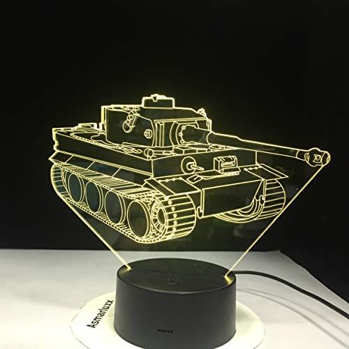 Tank Night Light lámpara de Mesa Novedad Color Ambiente decoración del hogar Brillo niños