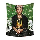YIGOLE Frida Kahlo Autoportrait Peintre Femme Fumeuse Tapisserie Murale Peintures Murales Serviettes De Plage Tapisserie Tapisserie Décore La Chambre (135_x_150_cm, 7)