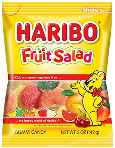 Haribo Gummi Candy, Fruit Salad, 5 Ounce (Pack of 12)