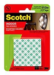 Double coated 1 inch foam squares Adhere and conform to a variety of surfaces Ideal for mounting pictures and decorations on most types of walls Permanently bonds to most surfaces Squares hold up to 2 pounds