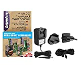 Defenders 9 V Universal Mains Adaptor, Extension Cable for Use with Defenders Mega-Sonic