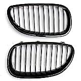 Griglia del radiatore di ricambio per auto, doppio ponte sportivo, per BMW serie 5 E60 E61 M5 2003 – 2009, nero lucido, 51712155446,51712155447