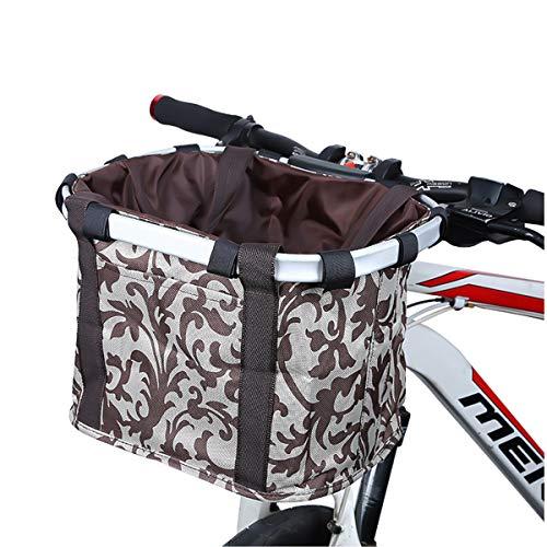 COEWSKE Fietsmand Afneembare Mountainbike Voorkant Canvas Basket Fietsopbergtas