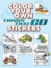 اللون الخاص بك الأشياء التي Go ملصقات (ملصق Dover كتب)