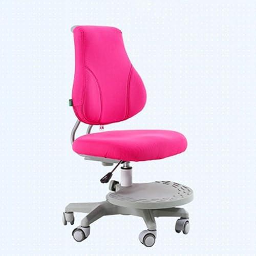 QFFL jiaozhengyi Korrektions-Stuhl-anhebende Student Learning Posture Chair Home Computer-Schreibens-Stuhl 2 Farben optional (Farbe   Rosa)