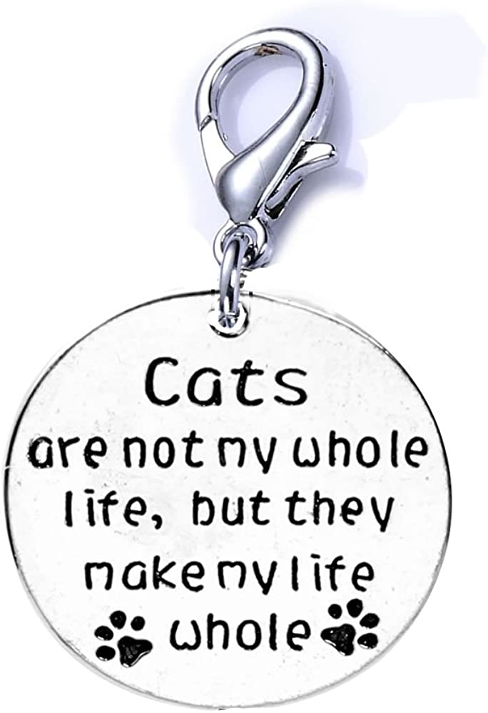 Sexy Very popular Sparkles Cat Pet New Free Shipping Memorial Charm Cats My Life are Whole not