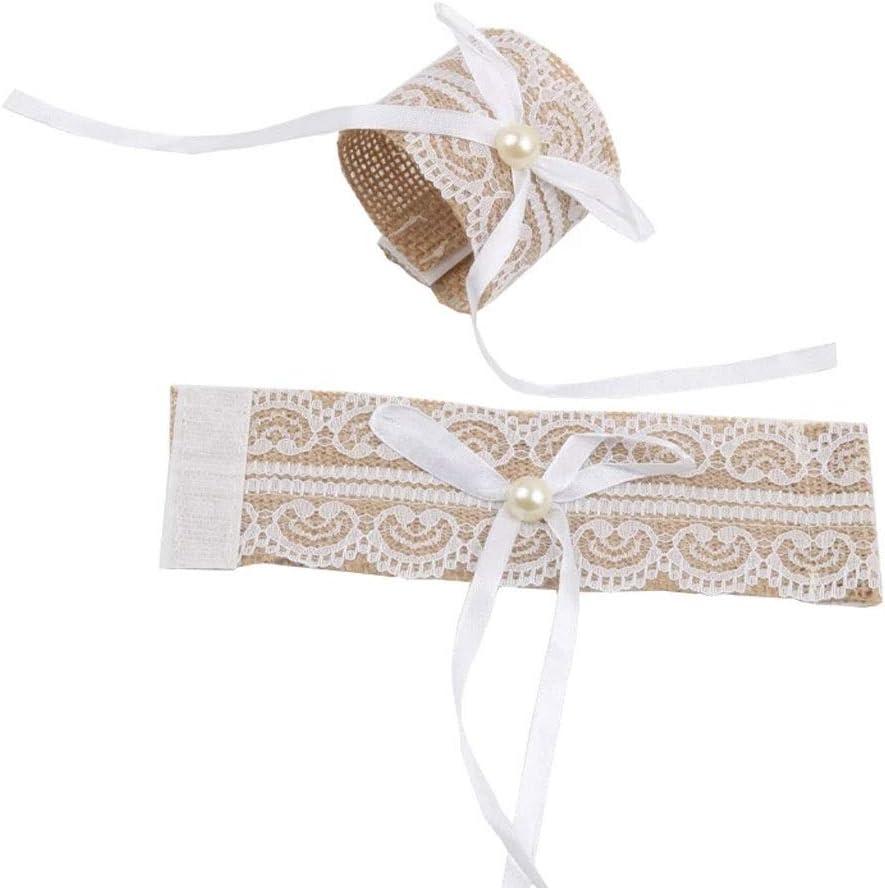 JYDQM 10Pcs Vintage Natural Lace Burlap Ribb Sacramento Mall Roll excellence Linen Handmade