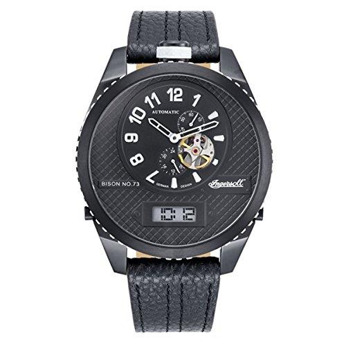 Ingersoll Herren Analog Automatik Uhr mit Leder Armband IN1716BBKW