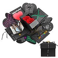 Scatola regalo esplosiva creativa - Quando chiusa, la scatola sembra una scatola regalo; Una volta aperti, tutti i lati ricadono per rivelare una grande carta a più strati e mostrare tutto l'amore che ci hai messo dentro. Album fotografico fai-da-te ...