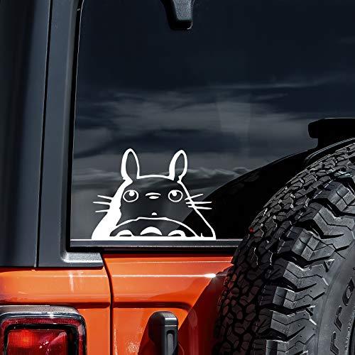 "M Totoro Head Car Window Decal | White | 6"""