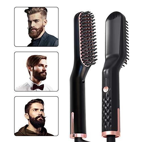 Myonly Beard Kamm, Bart Strecker, Gerade Haarbürste, Elektrischer Haarkamm, Herren-Bart Frisur Kamm