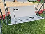 Ersatz-Schaukelsitzbezug für Hollywoodschaukel, Sitzbezug für Gartenstuhl, für den Außenbereich, 148 x 52 x 52 cm, Grau