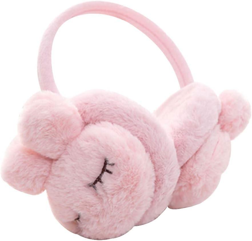 Black Temptation Lovely Earmuffs Plush Earmuff Winter Ear Cover, Pink