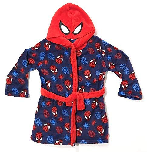 Bata Spiderman de Estar por Casa para Niños - Bata Spider-Man Marvel con Capucha (2-3 años)