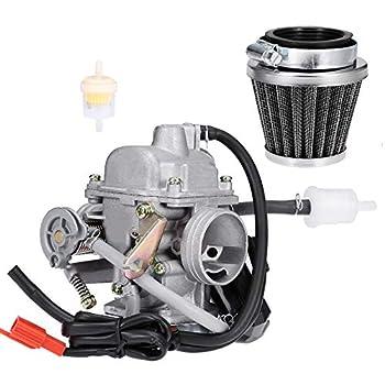 Aynaxcol Carburetor Kit W/Air Fliter for Yerf Dog Spiderbox 150CC GX150 GO Kart High Performance