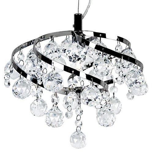 Deckenleuchte ABIJA Kristallleuchte Kristallen tropfenförmig Pendel-Deckenlampe Hänge-Flur-Wohnzimmer-Leuchte