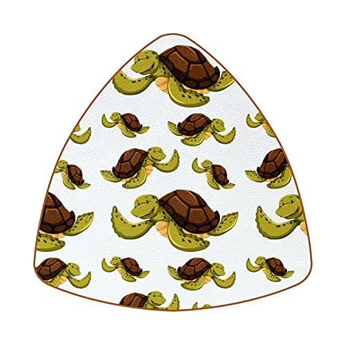 Bennigiry Juego de 6 posavasos con diseño de tortugas marinas en fondo blanco resistentes al calor para taza de café y té, juego de 6