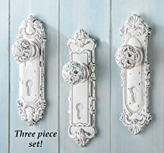 Perfect anywhere in your home, they re great for holding coats, bags, towels, robes, and more. Hang these detailed door knob hooks and enjoy a touch of antique style and charm. Each hook has intricately sculpted details and a hand-painted antiqued fi...