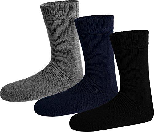 3 Paar Nie wieder Kalte Fe! Polar Husky Winter Socken, super dick & sehr warm! Gre 35/38 Farbe Schwarz/Grau/Blau Schwarz/Grau/Blau
